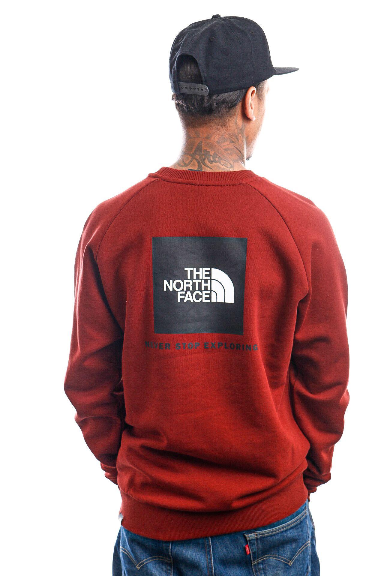 Afbeelding van The North Face Crewneck M RAGLAN REDBOX BRICK HOUSE RED NF0A4SZ9BDQ1