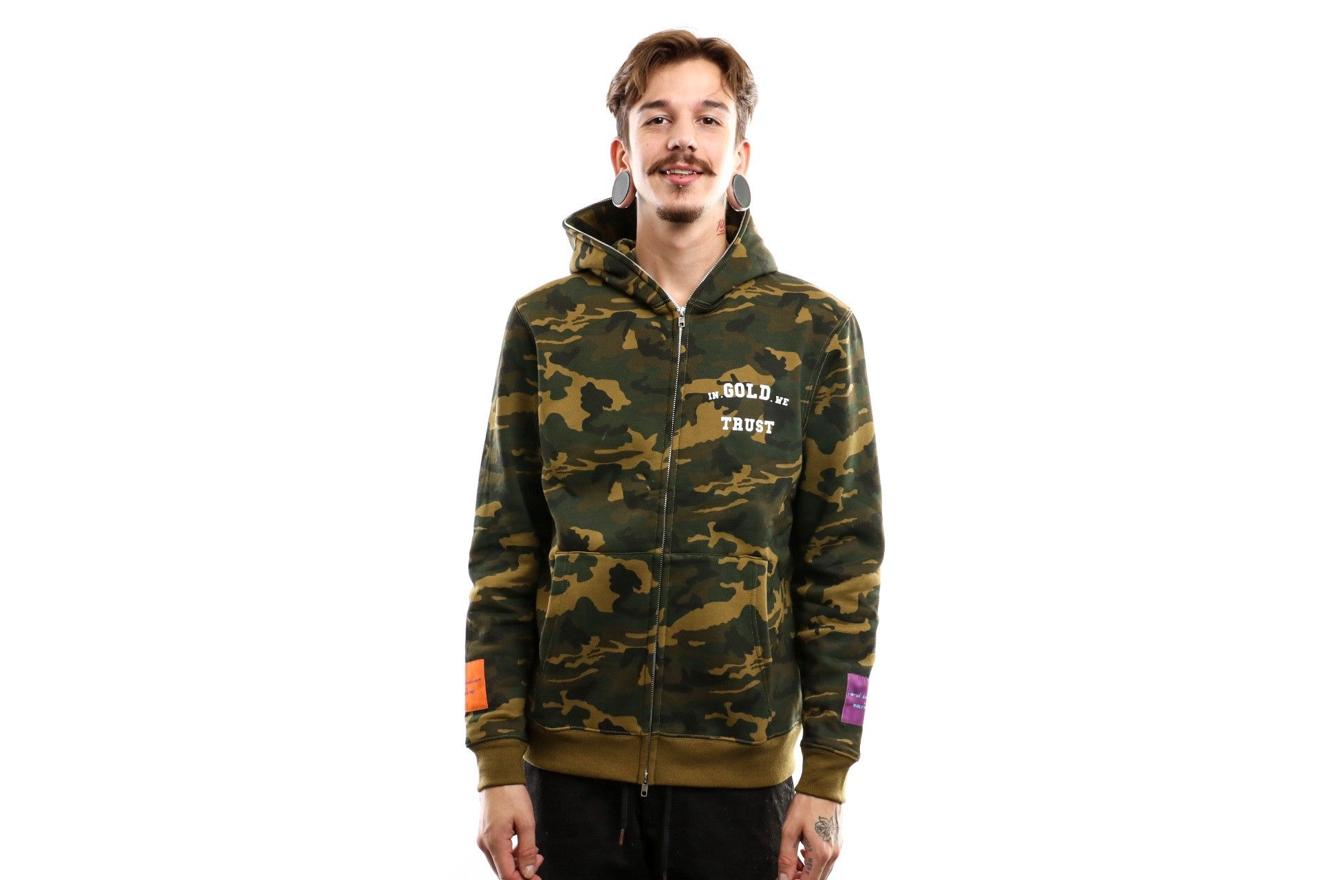 Afbeelding van In Gold We Trust Hooded Zip The Wu Army Igwtwk0011030125Hw
