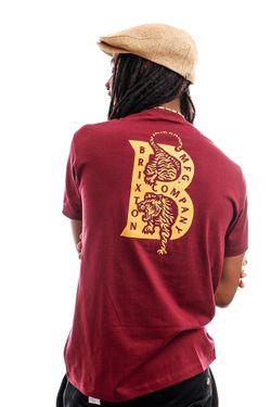 Afbeelding van Brixton T-shirt Crawler S/S STT Burgundy 16258