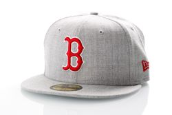 Afbeelding van New Era Fitted Cap Boston Red Sox Heather Gray 59Fifty 12040474