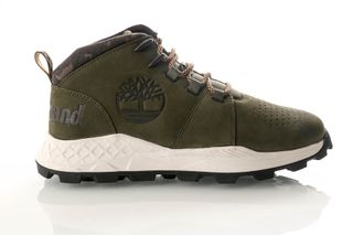 Foto van Timberland Dark Green Nubuck Tb0A26Kua581 Sneakers Brooklyn City Mid