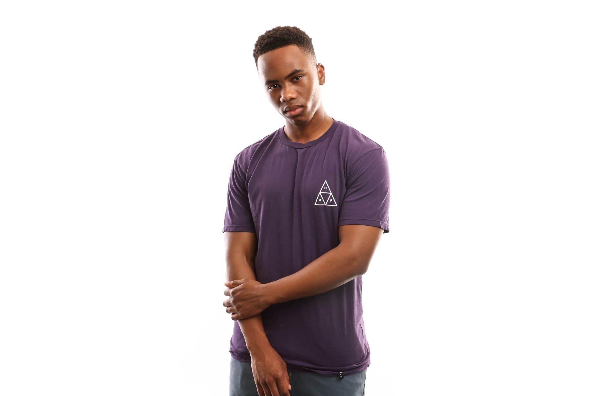 Afbeelding van Huf Essentials Tt S/S Tee Ts00509-Prplv T Shirt Purple Velvet