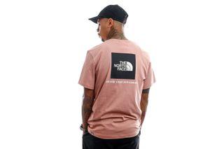 Foto van The North Face T-Shirt Men's S/S Redbox Tee - Eu Pinkclay/Tnfblk NF0A2TX2T9P1