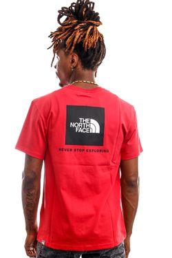 Afbeelding van The North Face T-shirt Men's S/S Redbox Tee - Eu Rococco Red NF0A2TX2V341