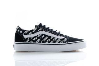 Foto van Vans Sneakers Ua Old Skool (Logo Repeat) Blk/True Wht VN0A4U3BTEZ1