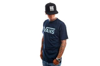 Foto van Vans T-Shirt Vans Classic Navy/Cameo Blue VN000GGGZHI1