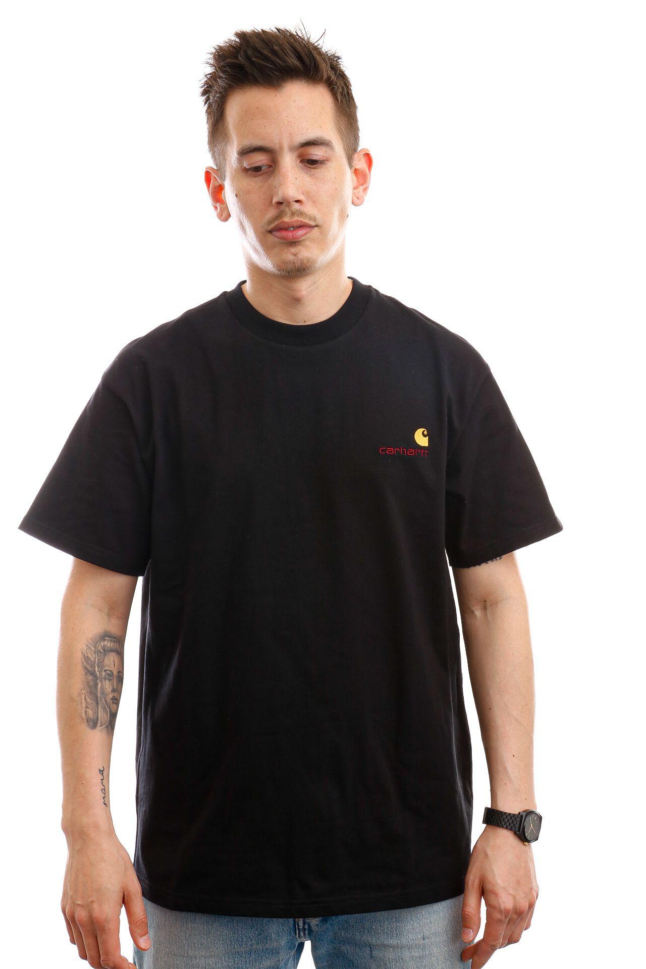 Afbeelding van Carhartt T-shirt S/S American Script T-Shirt Black I029007
