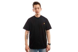 Foto van Carhartt T-shirt S/S American Script T-Shirt Black I029007