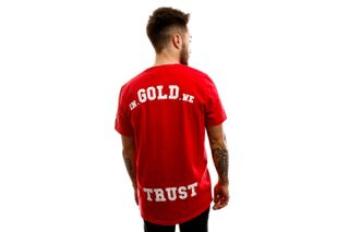 Foto van In Gold We Trust T-shirt The Pusha Red IGWTT-001-R