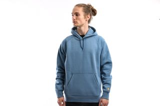 Foto van Carhartt WIP Hooded Chase Sweatshirt I026384 Hooded Mossa / Gold