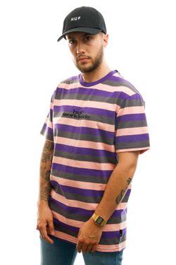 Afbeelding van HUF T-shirt Cruz S/S Knit Shirt Coral Pink KN00239-CLPNK