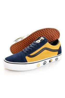 Afbeelding van Vans Sneakers UA Old Skool (TAKE A STAND) Dress Blues/Gold VN0A3WKT9XH1