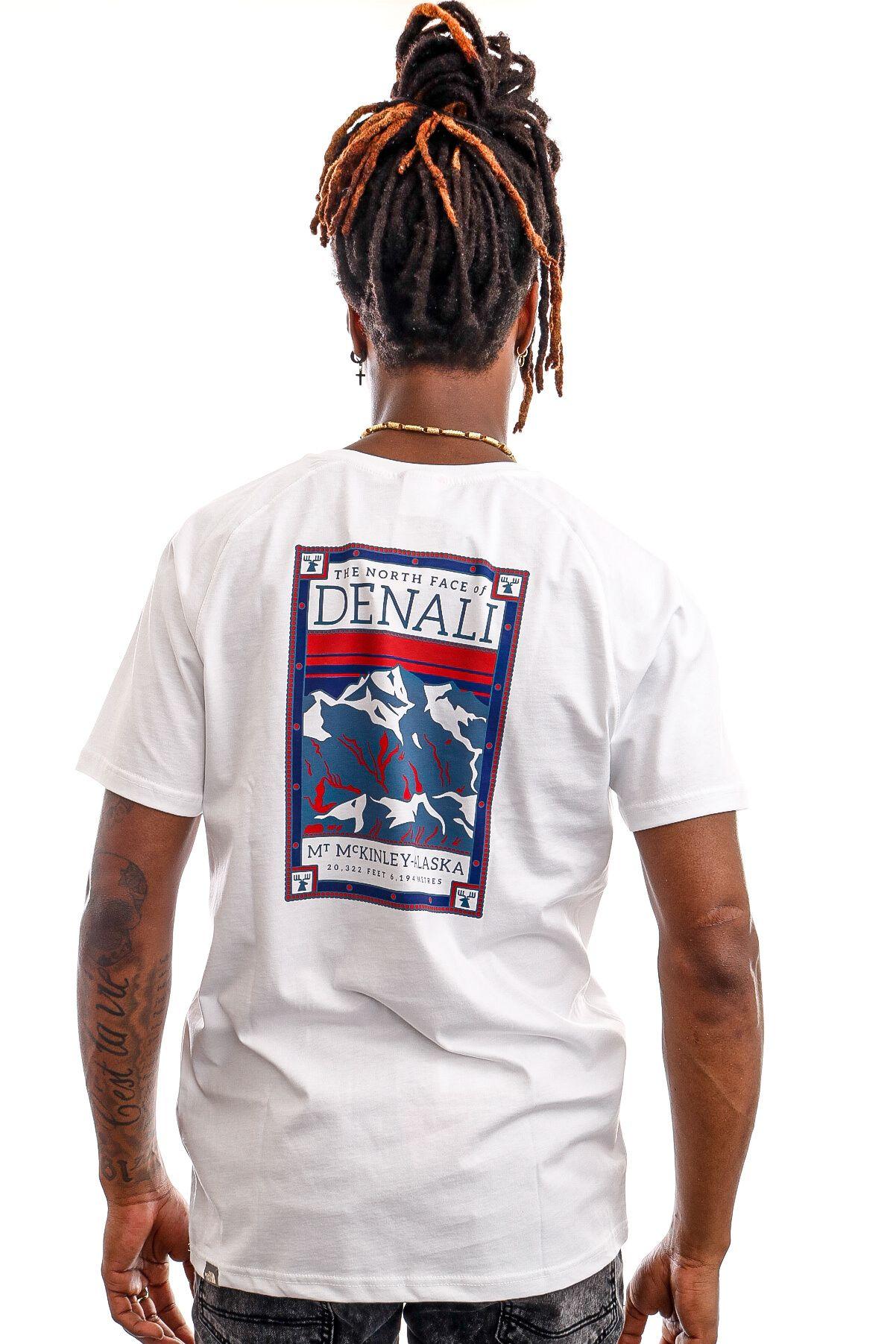 Afbeelding van The North Face T-shirt Men's S/S North Faces Tee - Eu TNFWHT/VNTGI NF00CEQ80GT1
