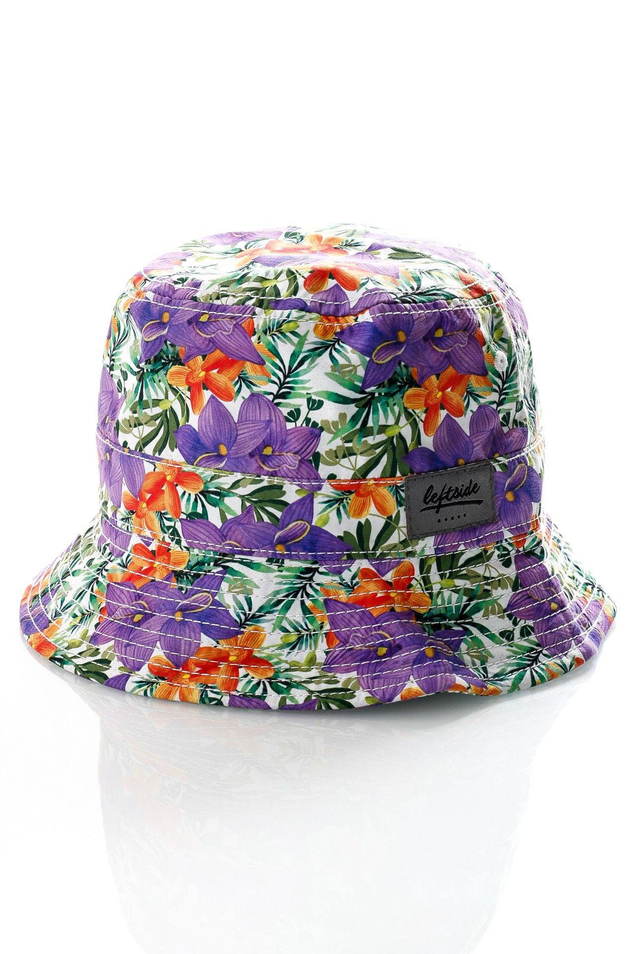 Afbeelding van Leftside Hat Tropical Purple