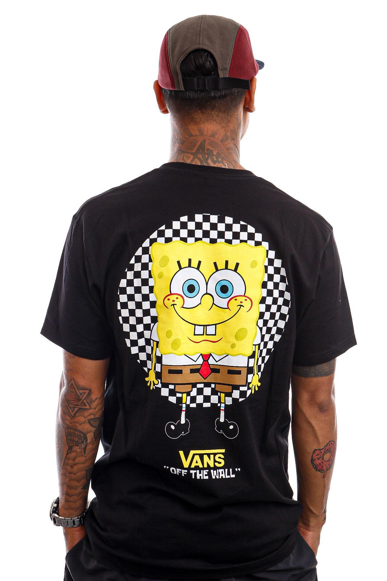Afbeelding van Vans T-Shirt MN VANS X SPONGEBOB SPOTLIGHT POCKET SS (SPONGEBOB) SPOTLIGHT Black VN0A5KCXZAX1