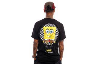 Foto van Vans T-Shirt MN VANS X SPONGEBOB SPOTLIGHT POCKET SS (SPONGEBOB) SPOTLIGHT Black VN0A5KCXZAX1
