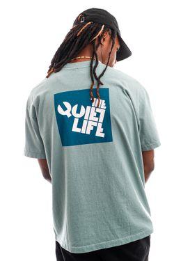 Afbeelding van The Quiet Life T-shirt Block Logo Tee Mist QL-21SPD2-2150
