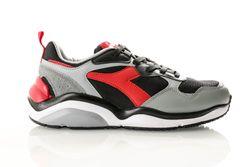 Afbeelding van Diadora Whizz Run 501174340 Sneakers Black/Red Capital