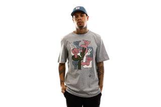 Foto van Herschel T-shirt Kevin Butler | Men's Tee Group Hands Heather Grey 50027-00566