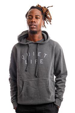 Afbeelding van Quiet Life Hoodie QUIET LIFE STANDARD PIGMENT DYED Black QL-19SPD1-1131