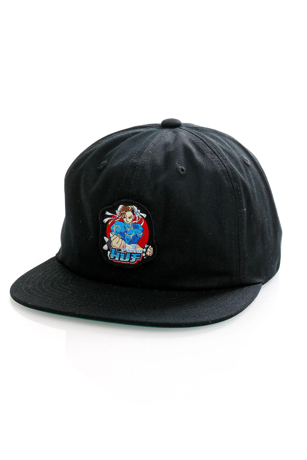 Afbeelding van HUF Snapback Cap Chun-Li Snapback Hat Black HT00601