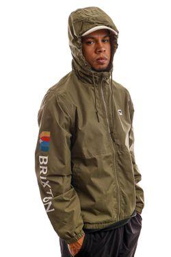 Afbeelding van Brixton Jas Claxton Alton LW ZIP HOOD JKT Military Olive 3293