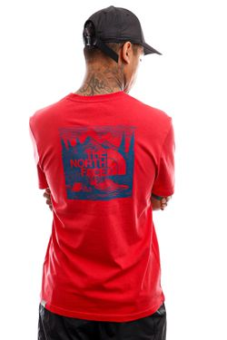 Afbeelding van The North Face T-shirt Mens S/S Redbox Celebration Tee Rococco Red NF0A2ZXEV341