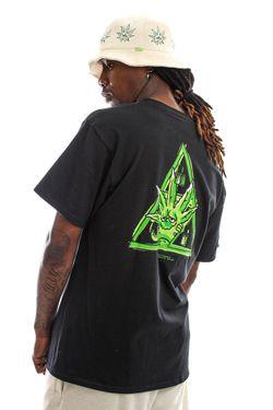 Afbeelding van HUF T-shirt Green Buddy S/S Tee Black TS01607
