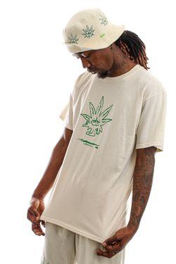 Afbeelding van HUF T-shirt Easy Green S/S Tee Naturel TS01605