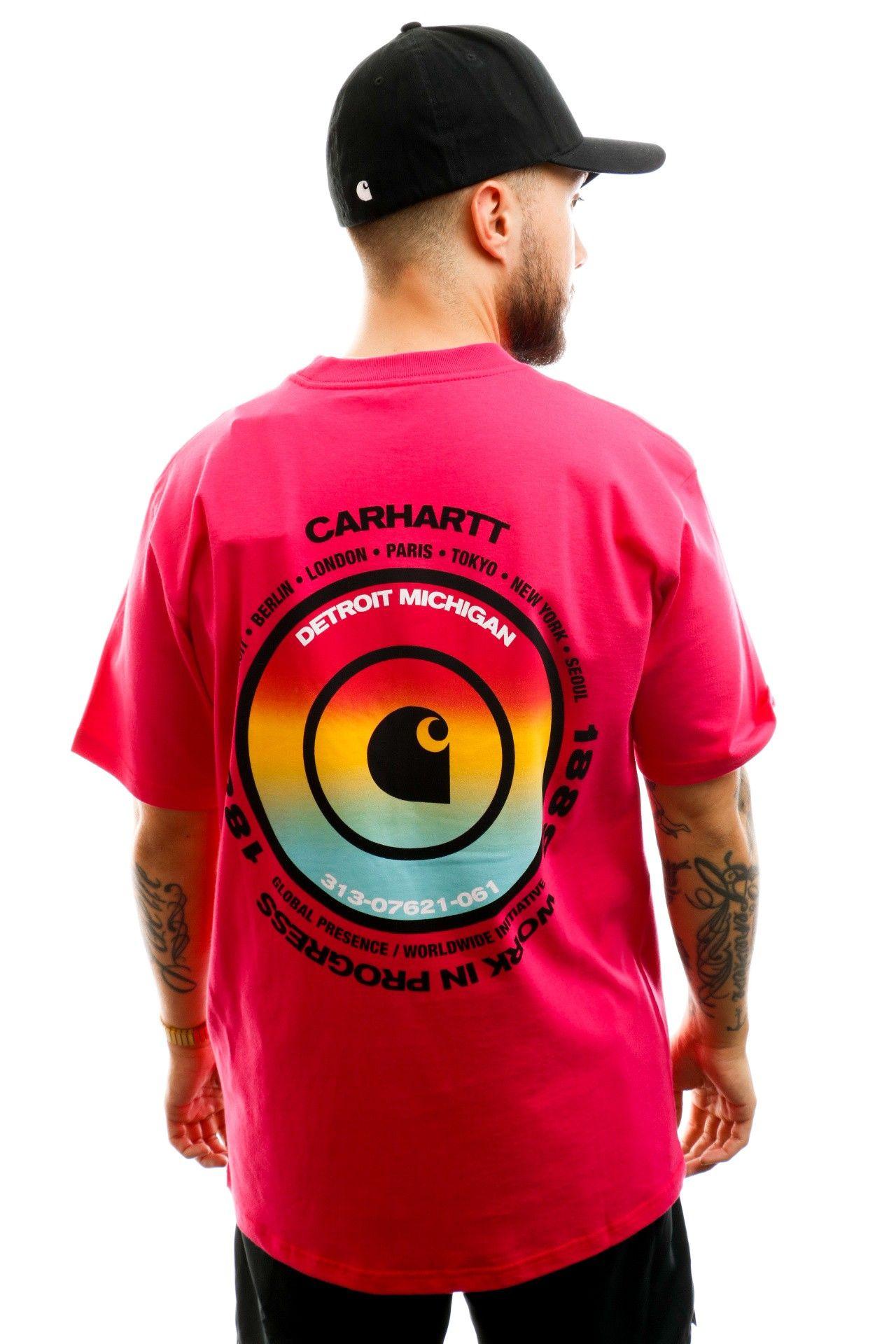 Afbeelding van Carhartt T-shirt S/S Worldwide T-Shirt Ruby Pink I027758