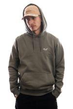 Reell Jeans Hoodie Regular Logo Hoodie Grey/ Green 1305-020
