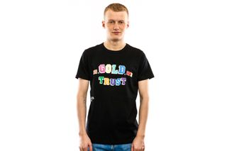 Foto van In Gold We Trust T Shirt Multi Color Front Print Tee Multicolor IGWT-007