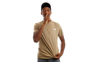 Foto van The North Face NF0A2TX5PLX1 T-Shirt Mens S/S Simple Dome Kelp Tan