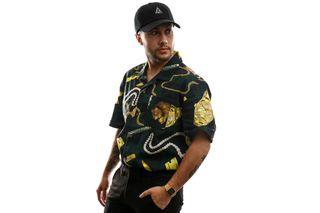 Foto van HUF Overhemd Tenderloin Woven S/S Shirt Black BU00069-BLACK