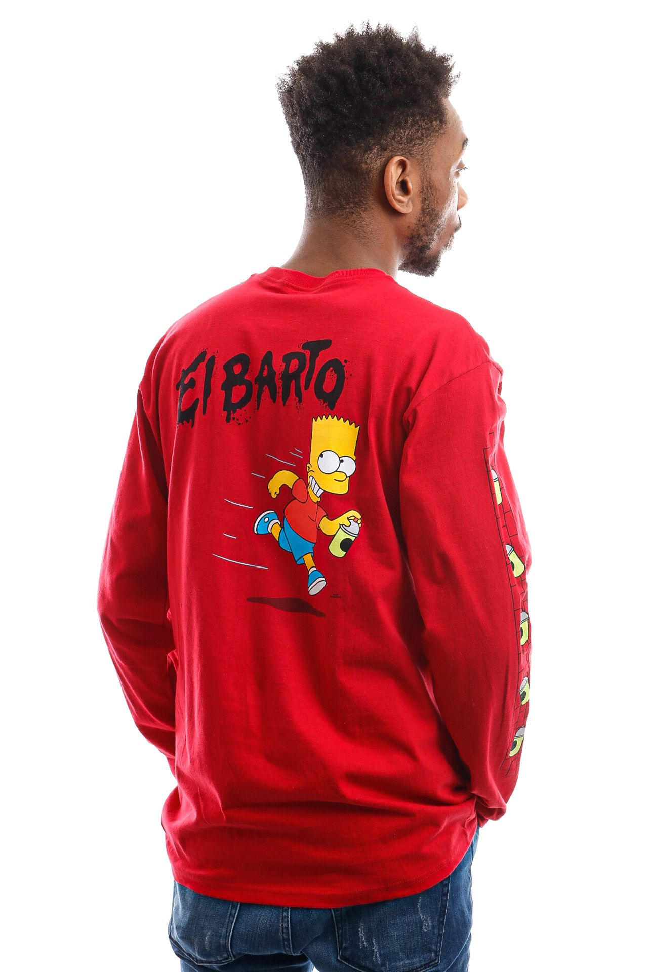 Afbeelding van Vans x The Simpsons Long Sleeve Mn Vans X El Barto ls Deep Red/True W VN0A4RTN17A