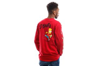 Foto van Vans x The Simpsons Long Sleeve Mn Vans X El Barto ls Deep Red/True W VN0A4RTN17A