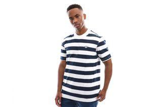 Foto van Adidas Stripe Tee Ec9304 T Shirt Night Indigo/White