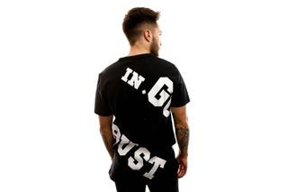 Foto van In Gold We Trust T-shirt The Offset Black / White IGWTT-002-WBS