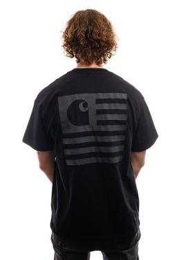 Afbeelding van Carhartt T-Shirt S/S State T-Shirt Black / Black I028434