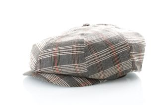 Foto van Brixton Flapcap Brood Snap Cap Grey/Tan Plaid 6