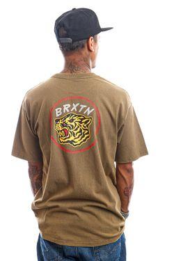 Afbeelding van Brixton T-shirt KIT S/S STT Military Olive Worn Wash 16569