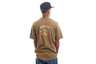 Foto van Brixton T-shirt KIT S/S STT Military Olive Worn Wash 16569