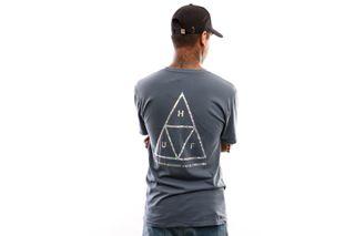 Foto van Huf Hologram S/S Tee Ts00815-Blmir T Shirt Blue Mirage