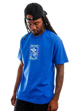Afbeelding van The Quiet Life T-shirt Static Shhh Tee Royal QL-21SPD2-2142
