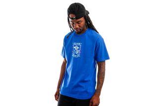 Foto van The Quiet Life T-shirt Static Shhh Tee Royal QL-21SPD2-2142