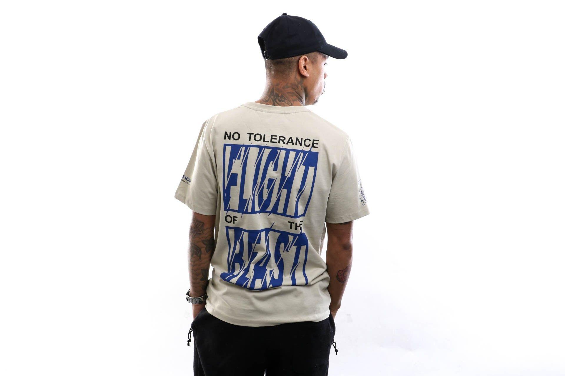 Afbeelding van Flight Of The Beast Crewneck T-shirt No tolerence Sand 20.Q1.07.SA