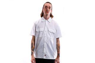 Foto van Dickies Overhemd Short Sleeve Work Shirt White DK001574