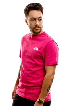 Afbeelding van The North Face T shirt Men'S S/S Simple Dome Tee Mr Pink NF0A2TX5WUG