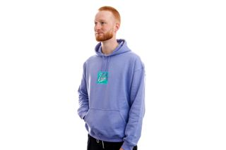 Foto van The Quiet Life Hoodie Miami Logo Embroidered Hood Lilac QL-21SPD1-1118