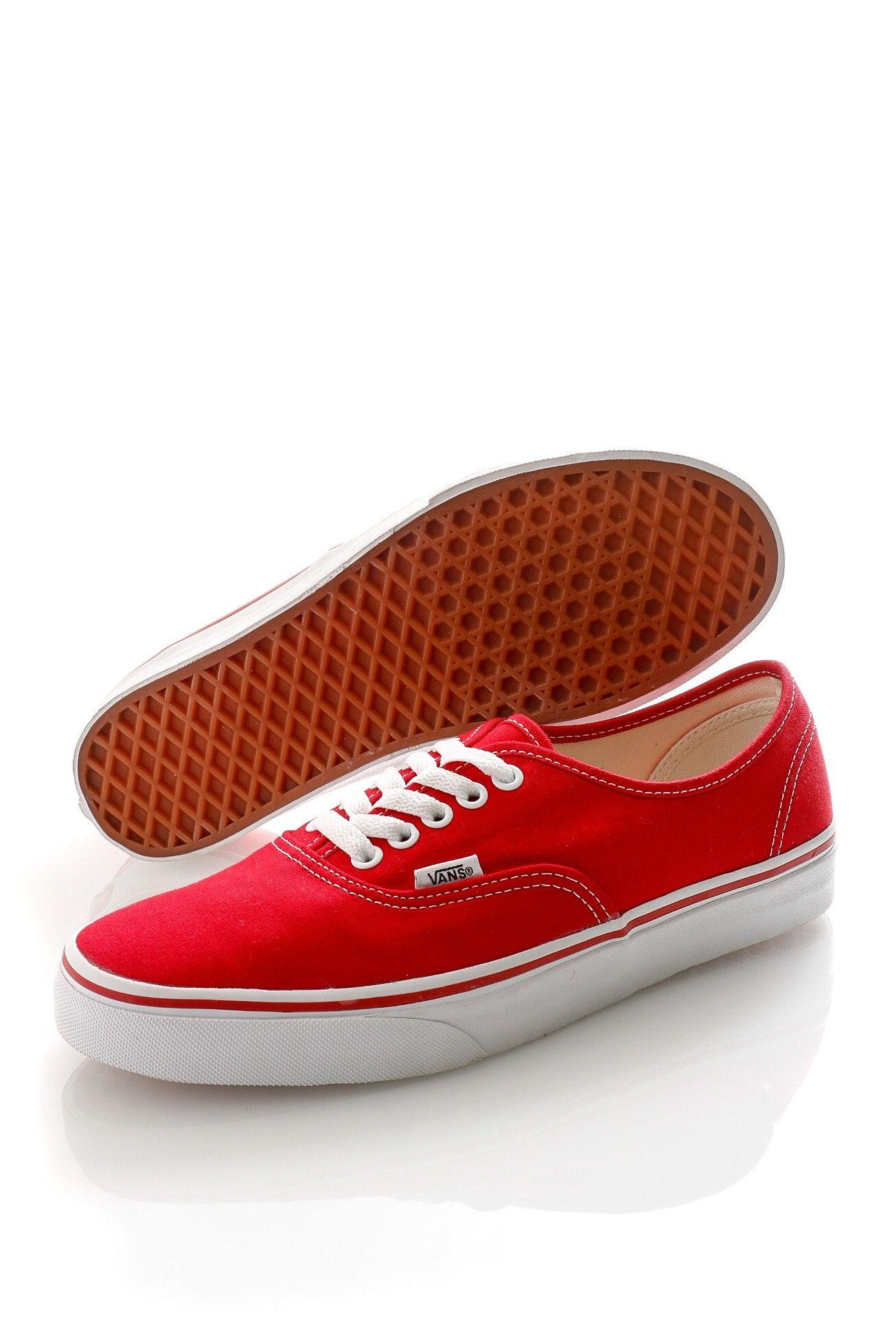 Afbeelding van Vans Classics Vee3-Red Sneakers Authentic Rood